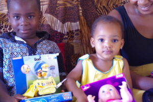 Kids with Georges toys